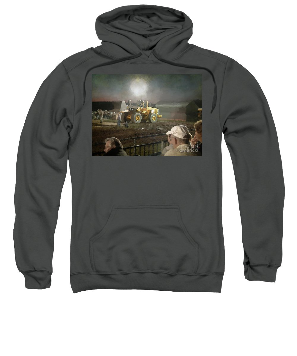 Americana Sweatshirt featuring the painting Waiting For The Pull by RC DeWinter