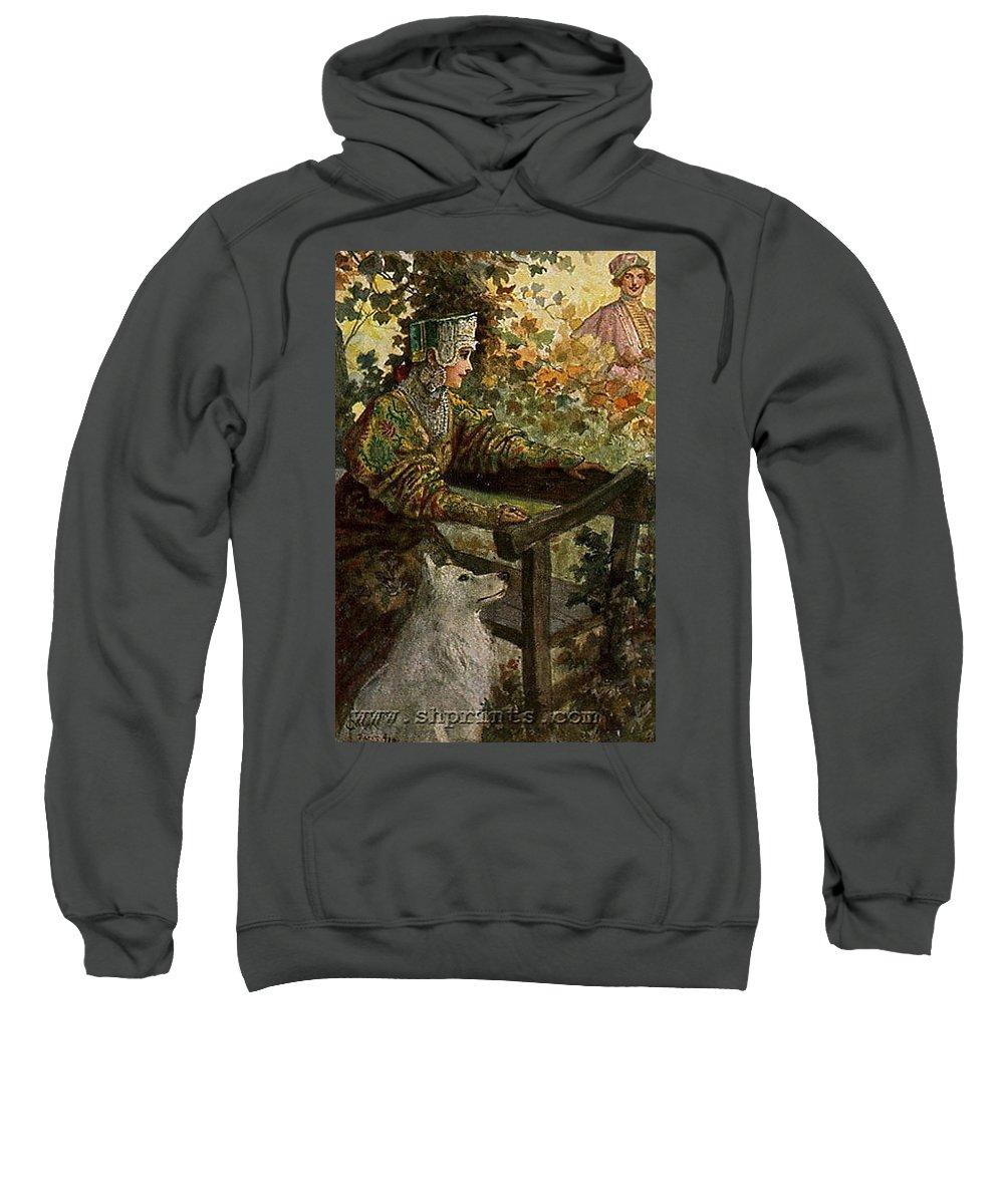 Autumn Sweatshirt featuring the digital art Waiting Sergey Sergeyevich Solomko by Eloisa Mannion