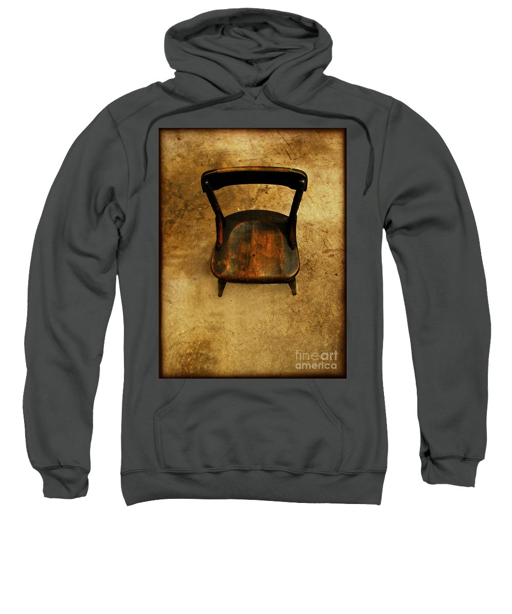 Alone Sweatshirt featuring the photograph Waiting To Say Goodbye by Dana DiPasquale