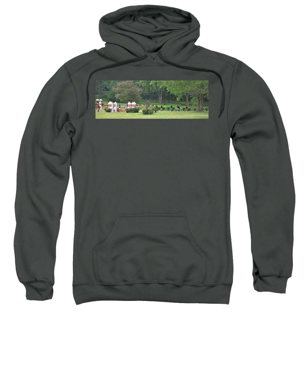 Horse Sweatshirt featuring the photograph Walking The Course by Catherine Easton