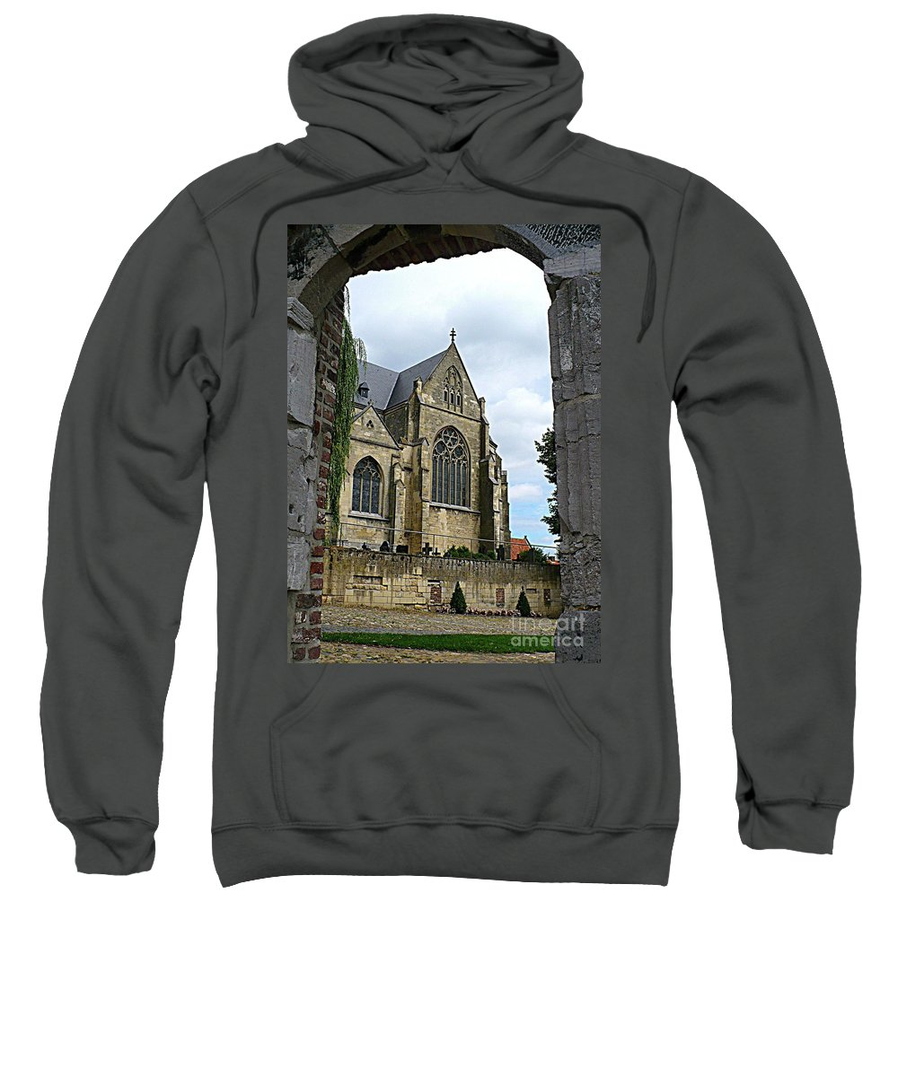 Church Sweatshirt featuring the photograph Walkway To Thorn Cathedral by Carol Groenen