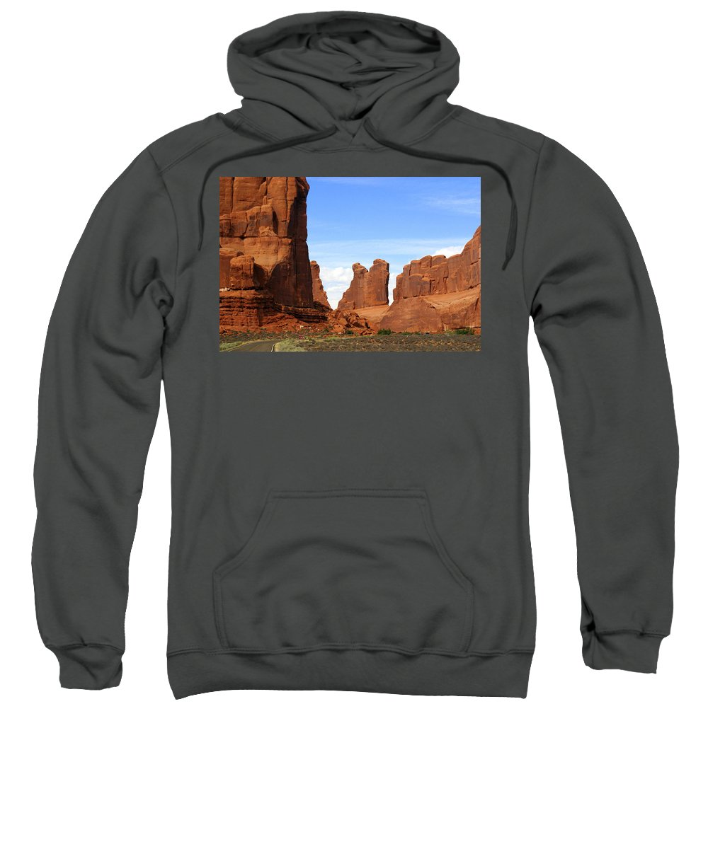 Southwest Art Sweatshirt featuring the photograph Wall Street by Marty Koch