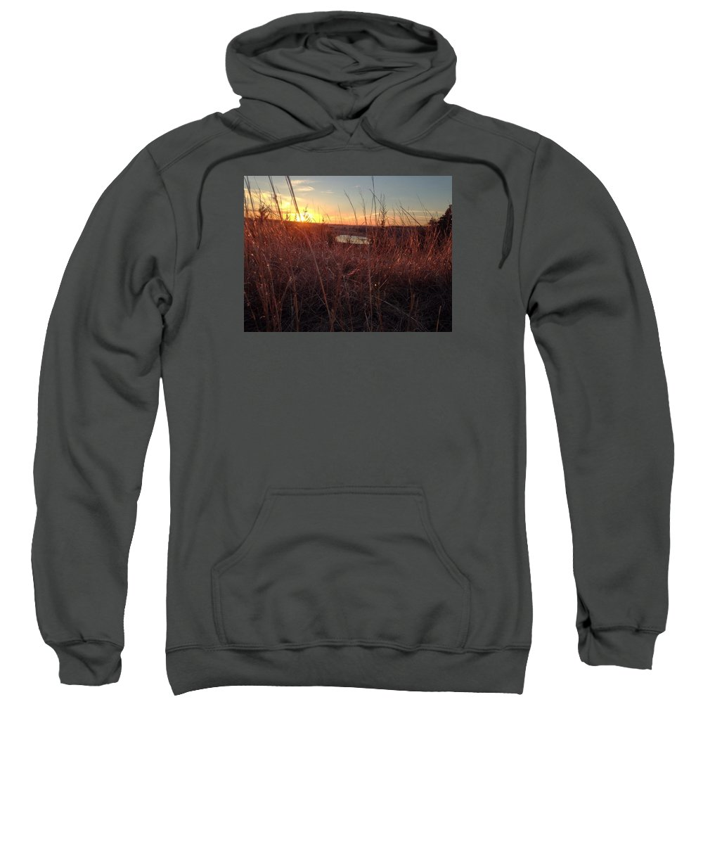 Sunset Sweatshirt featuring the photograph Warm by Mary Lynne Crispo