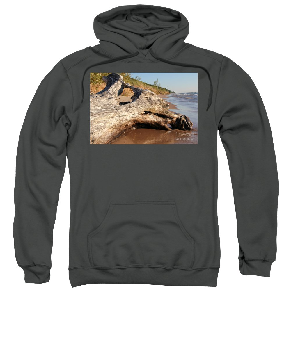 Beach Sweatshirt featuring the photograph Washing Away by Lauren Mohr