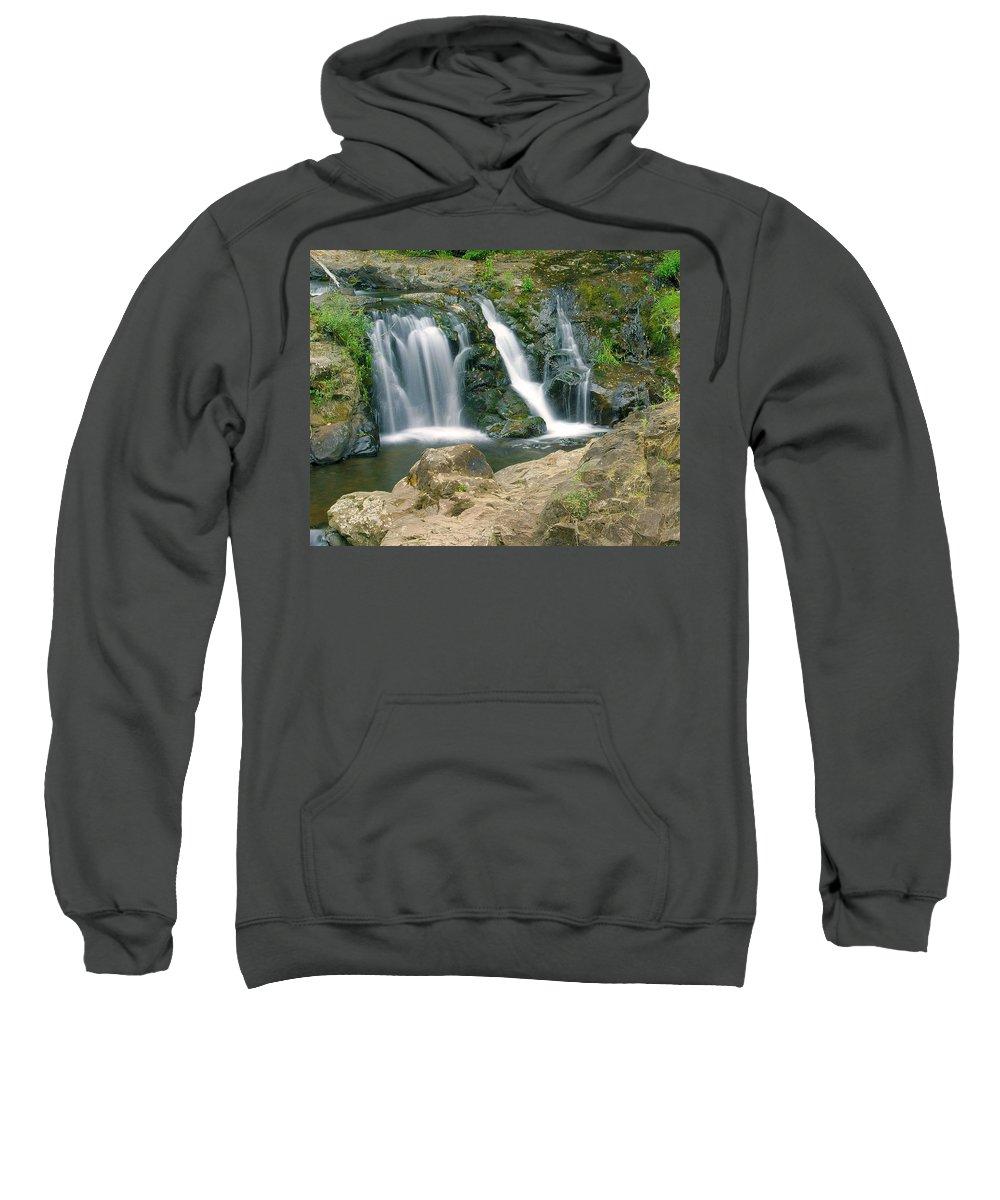 Waterfall Sweatshirt featuring the photograph Washington Falls 3 by Marty Koch
