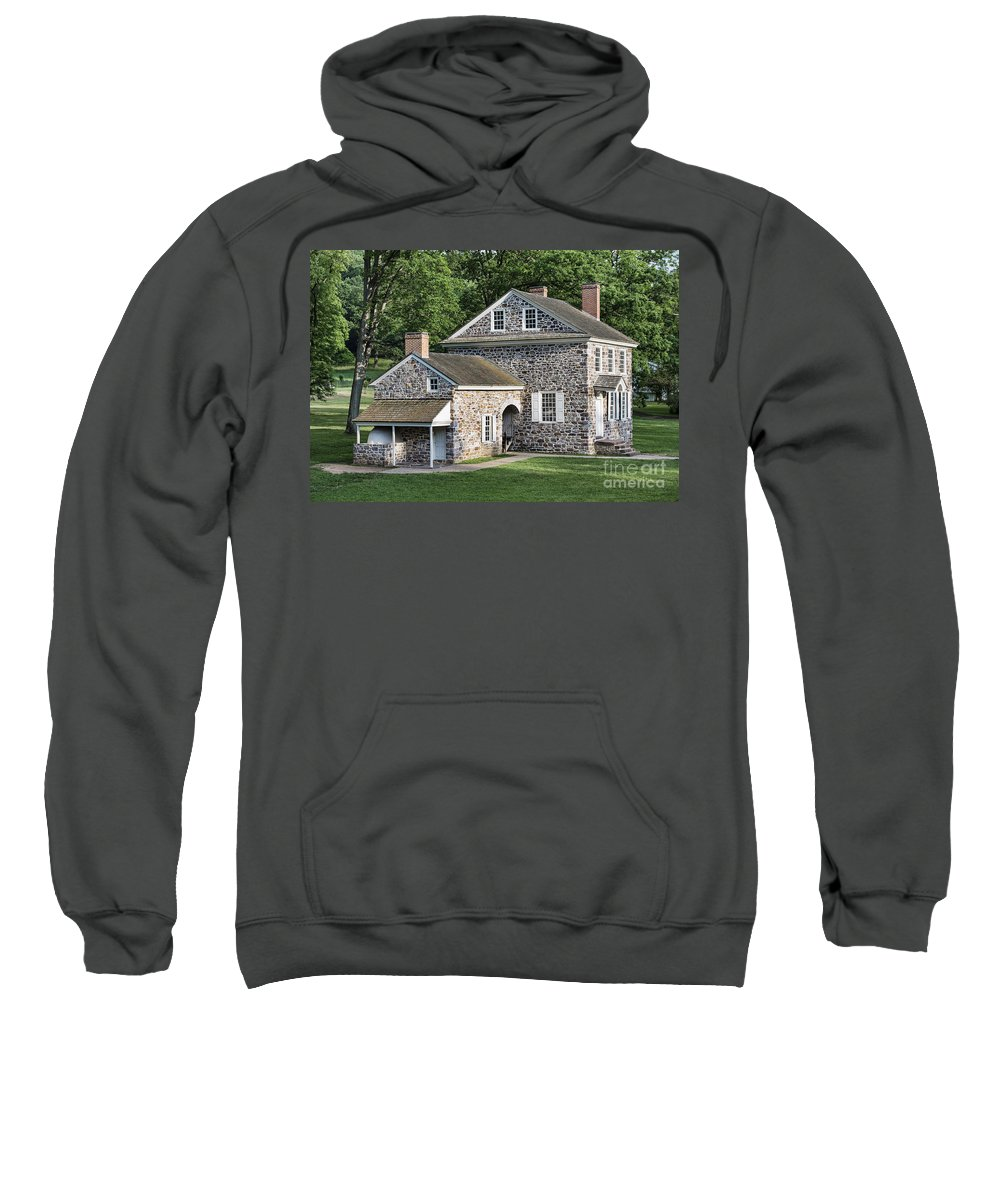 America Sweatshirt featuring the photograph Washington's Headquarters At Valley Forge by John Greim