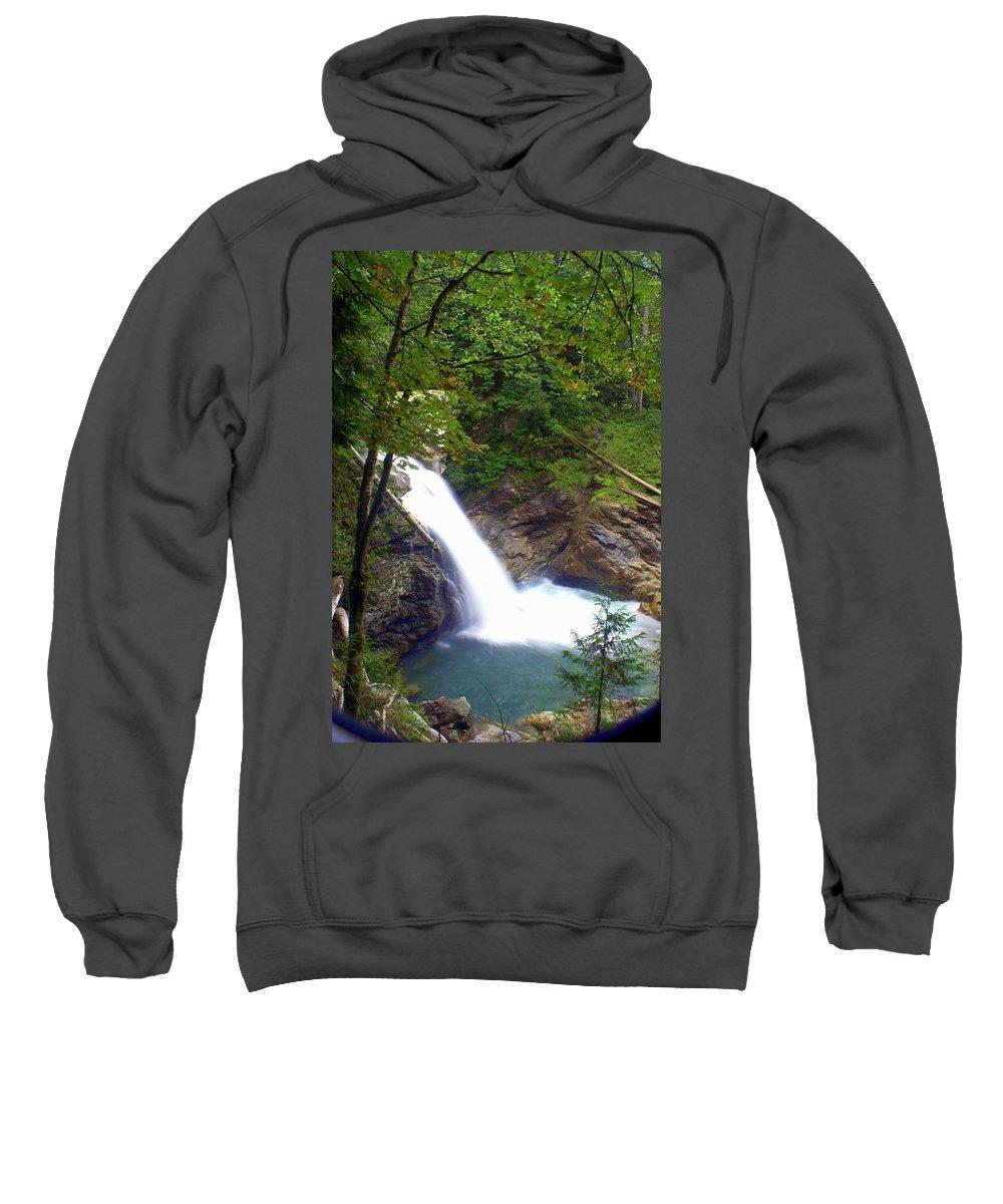 Waterfall Sweatshirt featuring the photograph Washngton Falls1 by Marty Koch