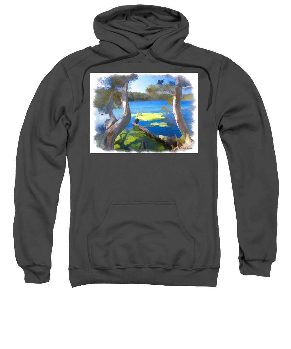 Tree Sweatshirt featuring the photograph Wat-0002 Avoca Estuary by Digital Oil