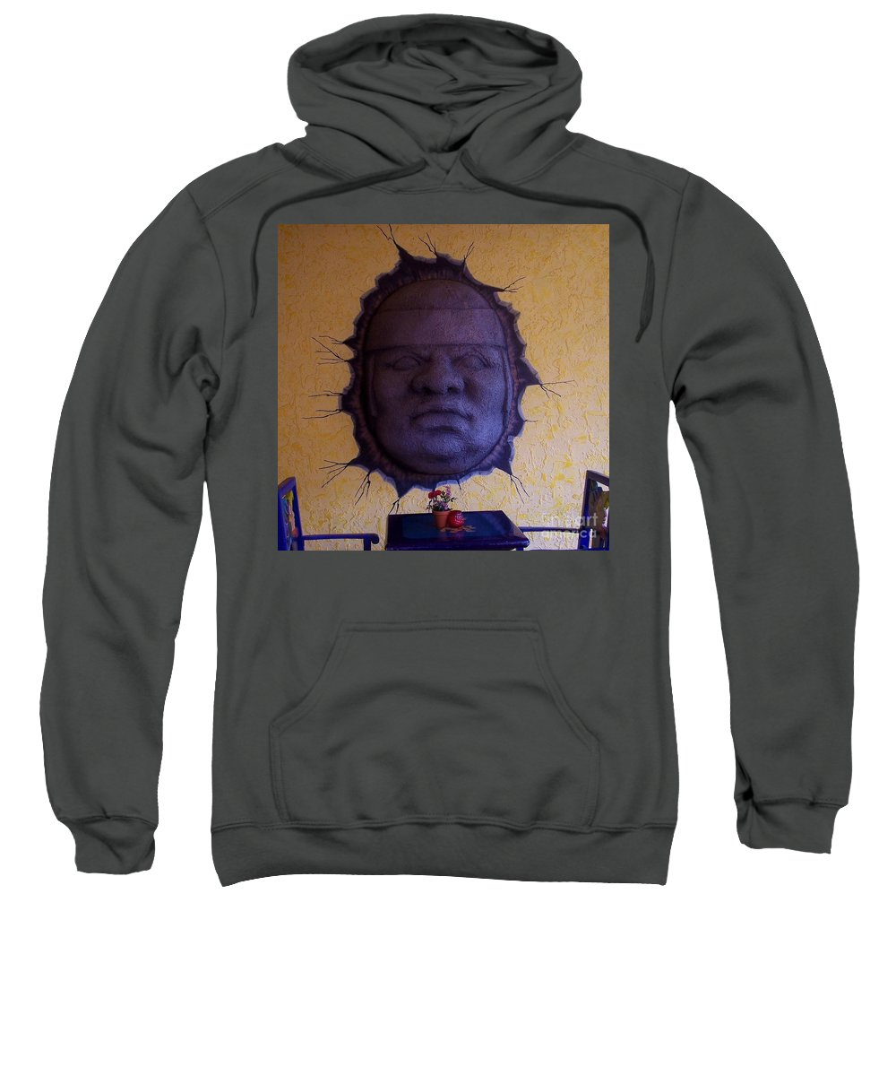 Face Sweatshirt featuring the photograph Watch What you Eat by Debbi Granruth