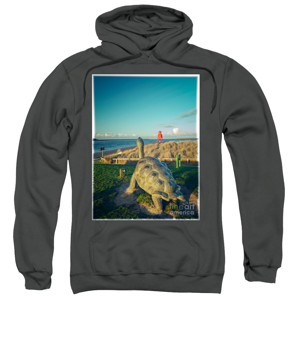 Collier Brigs Sweatshirt featuring the photograph Watching The Tyne by Andy Blakey