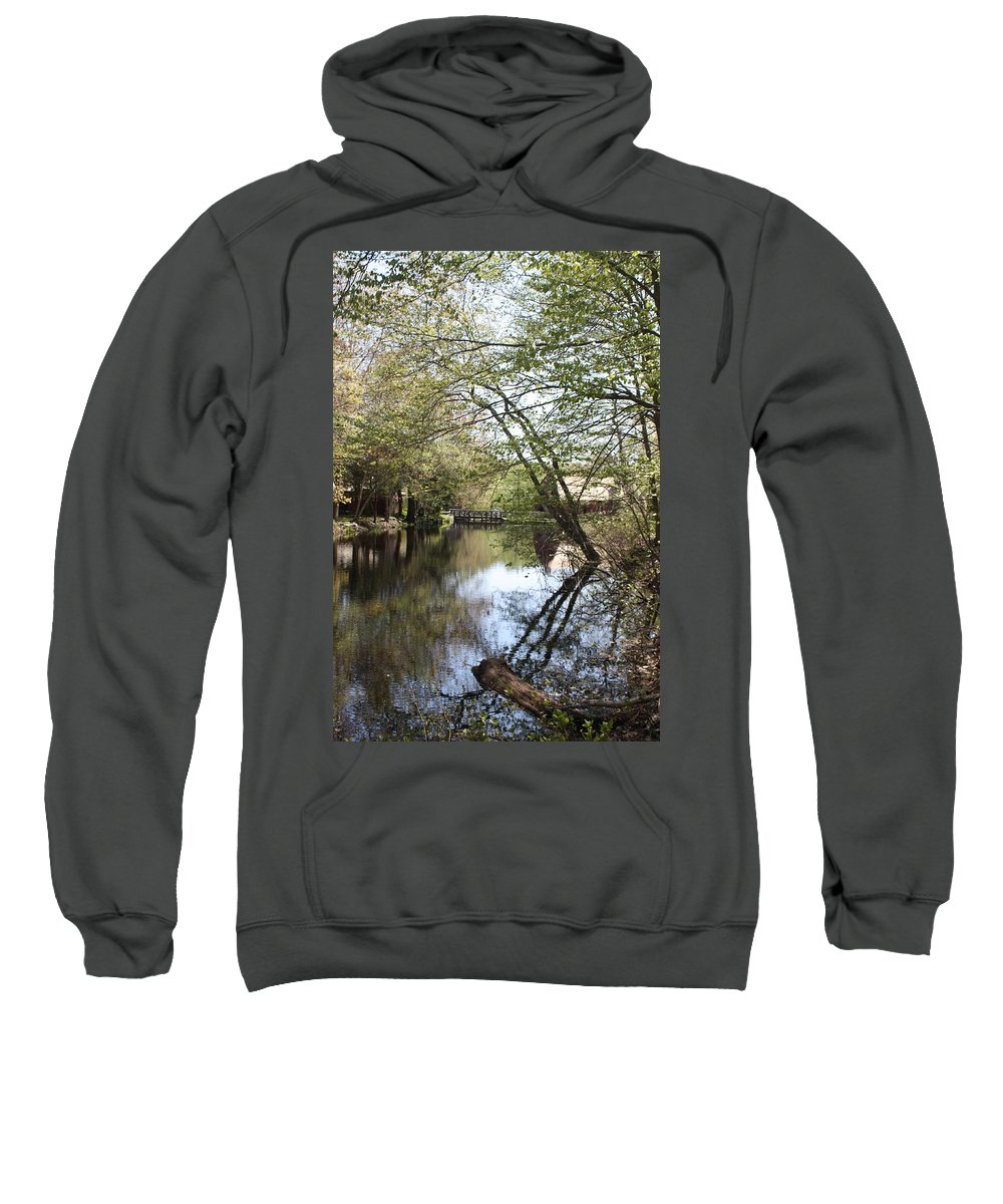 Scenic Sweatshirt featuring the photograph Water At Gilbert Stuart by Erin Rosenblum
