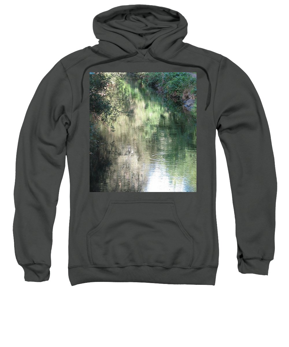 Reflection Sweatshirt featuring the photograph Water Color by Kelly Mezzapelle