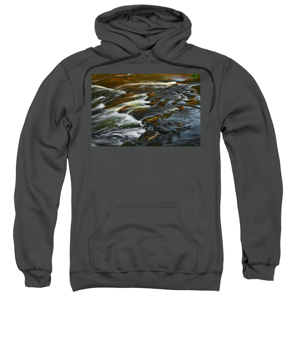 Water Rocks Stream Color Photography Photograph Sweatshirt featuring the photograph Water Colors by Shari Jardina