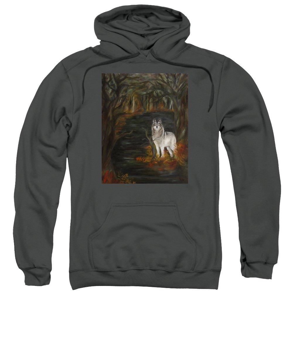 Autumn Sweatshirt featuring the painting Water Dark by FT McKinstry