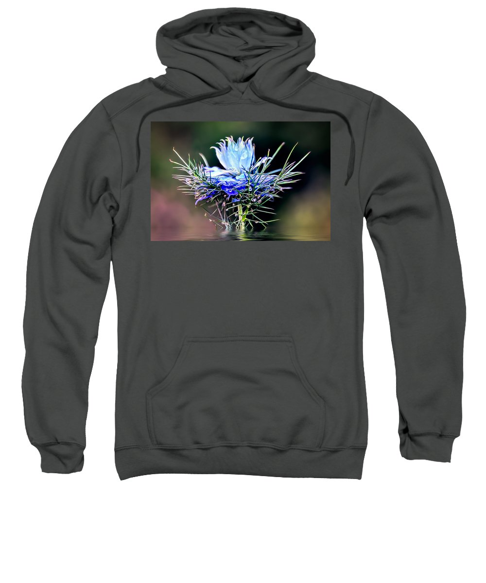Art Sweatshirt featuring the photograph Water Drops by Maria Coulson