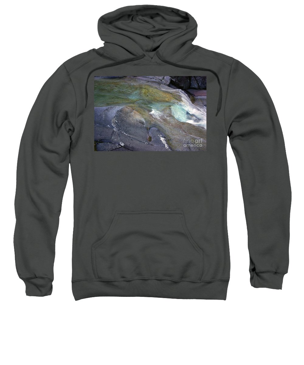 Tropical Sweatshirt featuring the photograph Water Flow by Kerryn Madsen- Pietsch