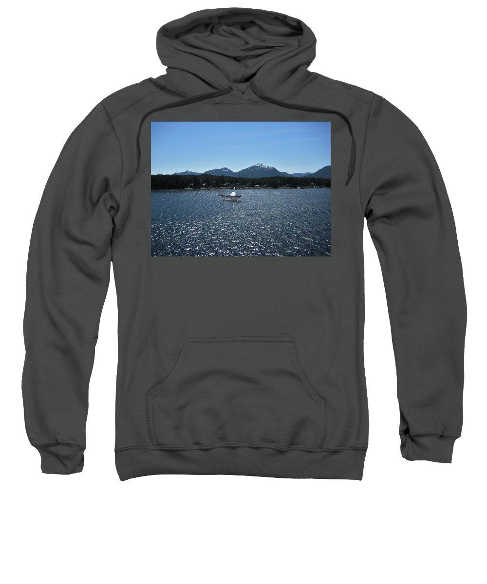Seaplane Sweatshirt featuring the photograph Water Landing by Lori Tambakis