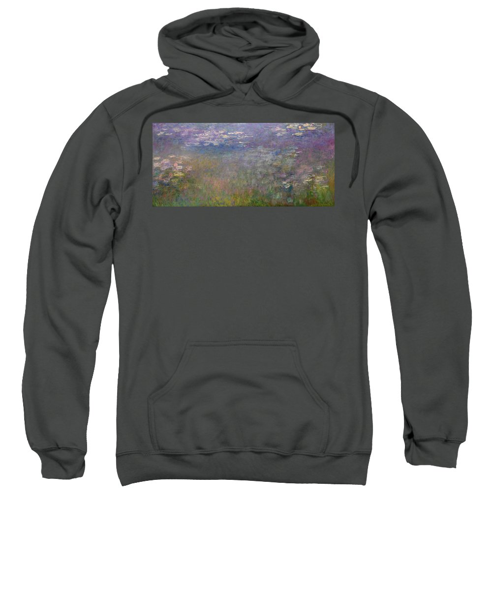 1926 Sweatshirt featuring the painting Water Lilies, 1926 by Claude Monet