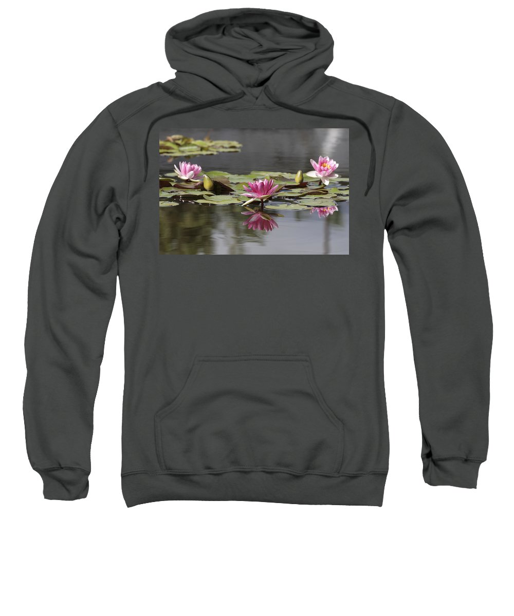 Lily Sweatshirt featuring the photograph Water Lily 3 by Phil Crean