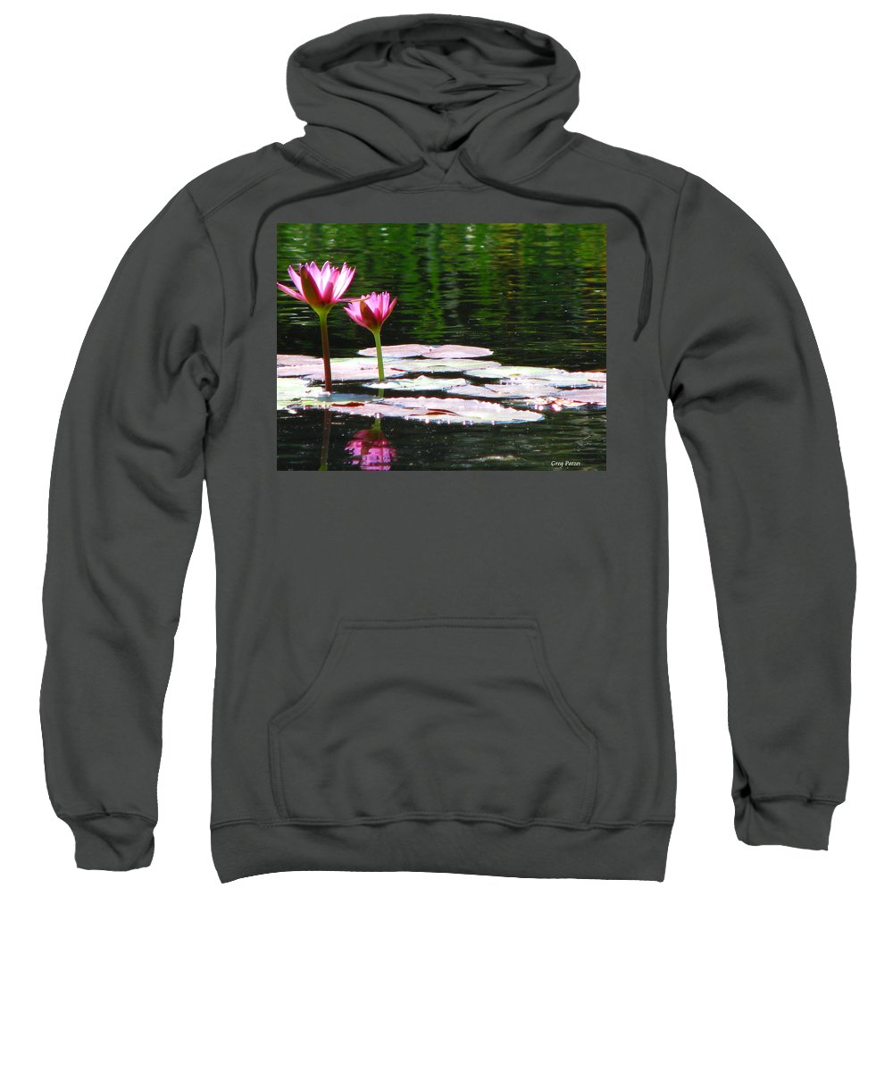 Patzer Sweatshirt featuring the photograph Water Lily by Greg Patzer
