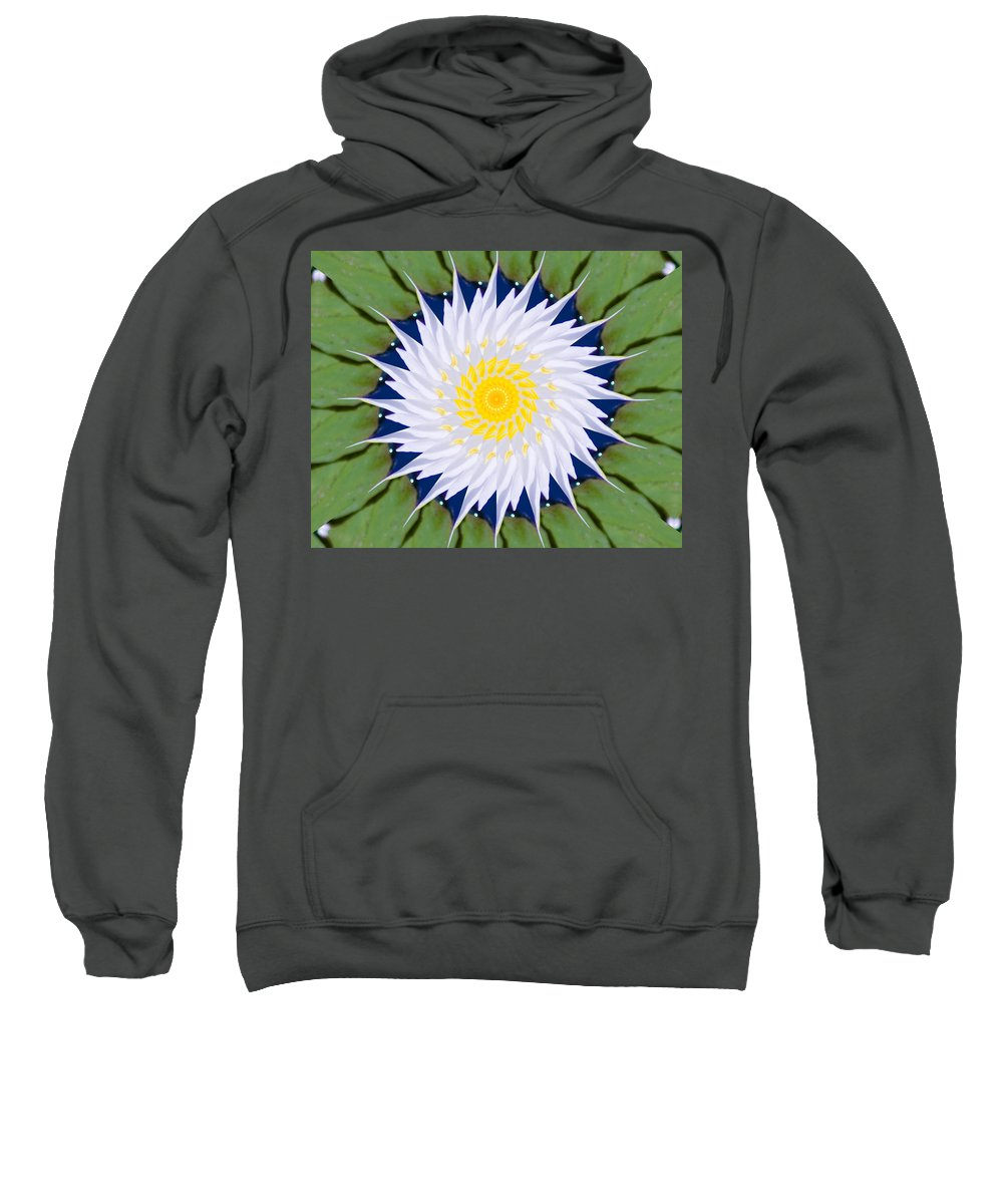 Water Sweatshirt featuring the photograph Water Lily Kaleidoscope by Bill Barber