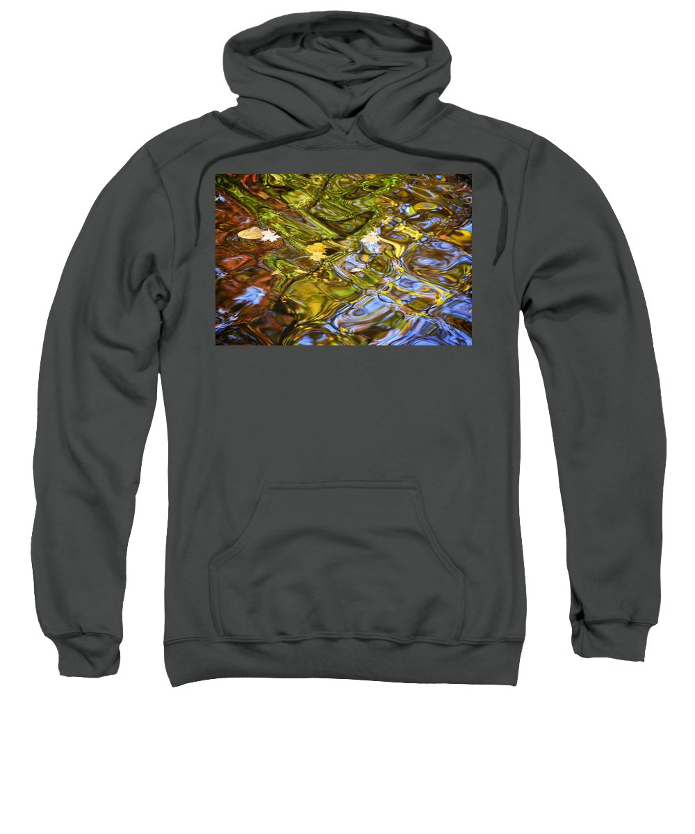 Water Sweatshirt featuring the photograph Water Prism by Frozen in Time Fine Art Photography