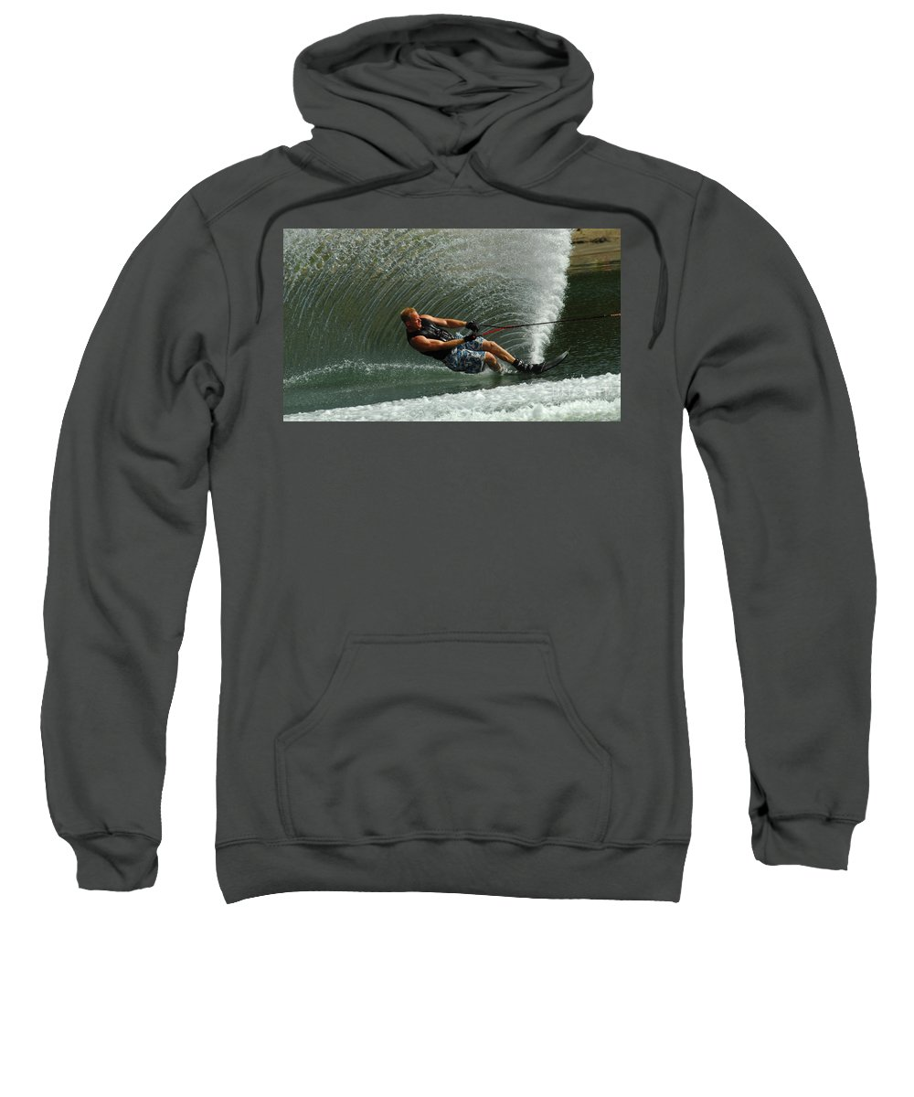 Water Skiing Sweatshirt featuring the photograph Water Skiing Magic Of Water 11 by Bob Christopher