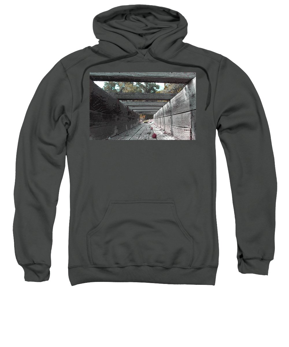 Water Sweatshirt featuring the photograph Water Sluce by Dennis Galloway