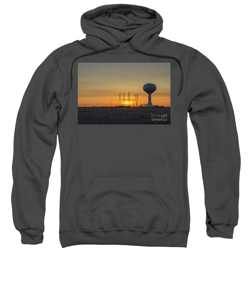 Sunset Sweatshirt featuring the photograph Water Tower Of Sunset by Doug Daniels