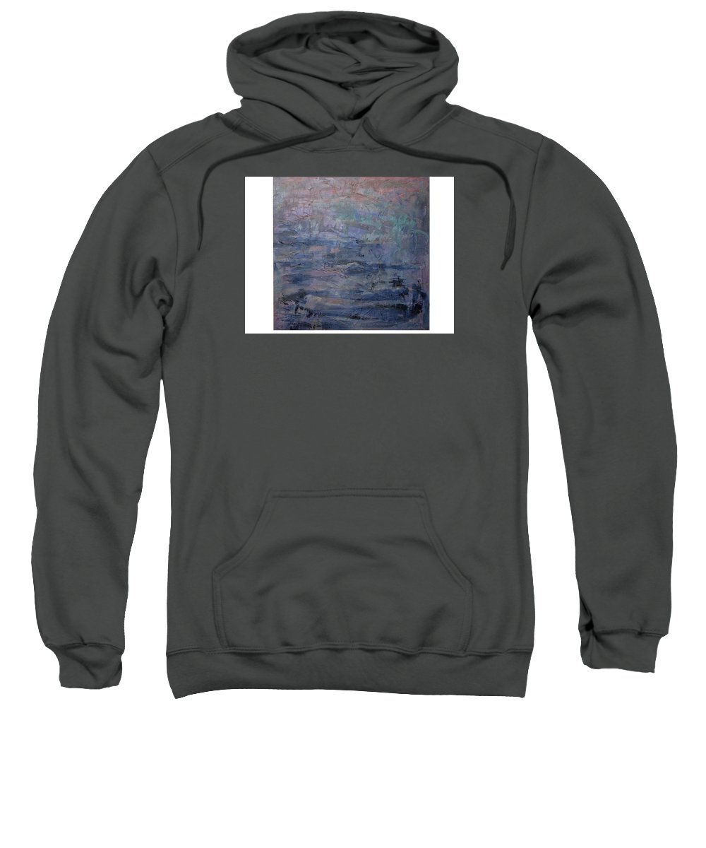 Abstract Sweatshirt featuring the painting Water Water Everywhere by Connie Freid
