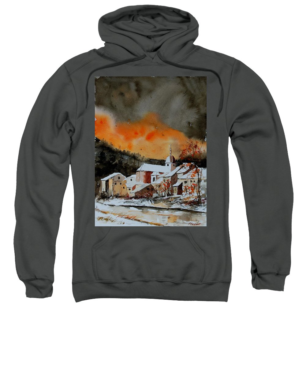 Winter Sweatshirt featuring the painting Watercolor 050707 by Pol Ledent