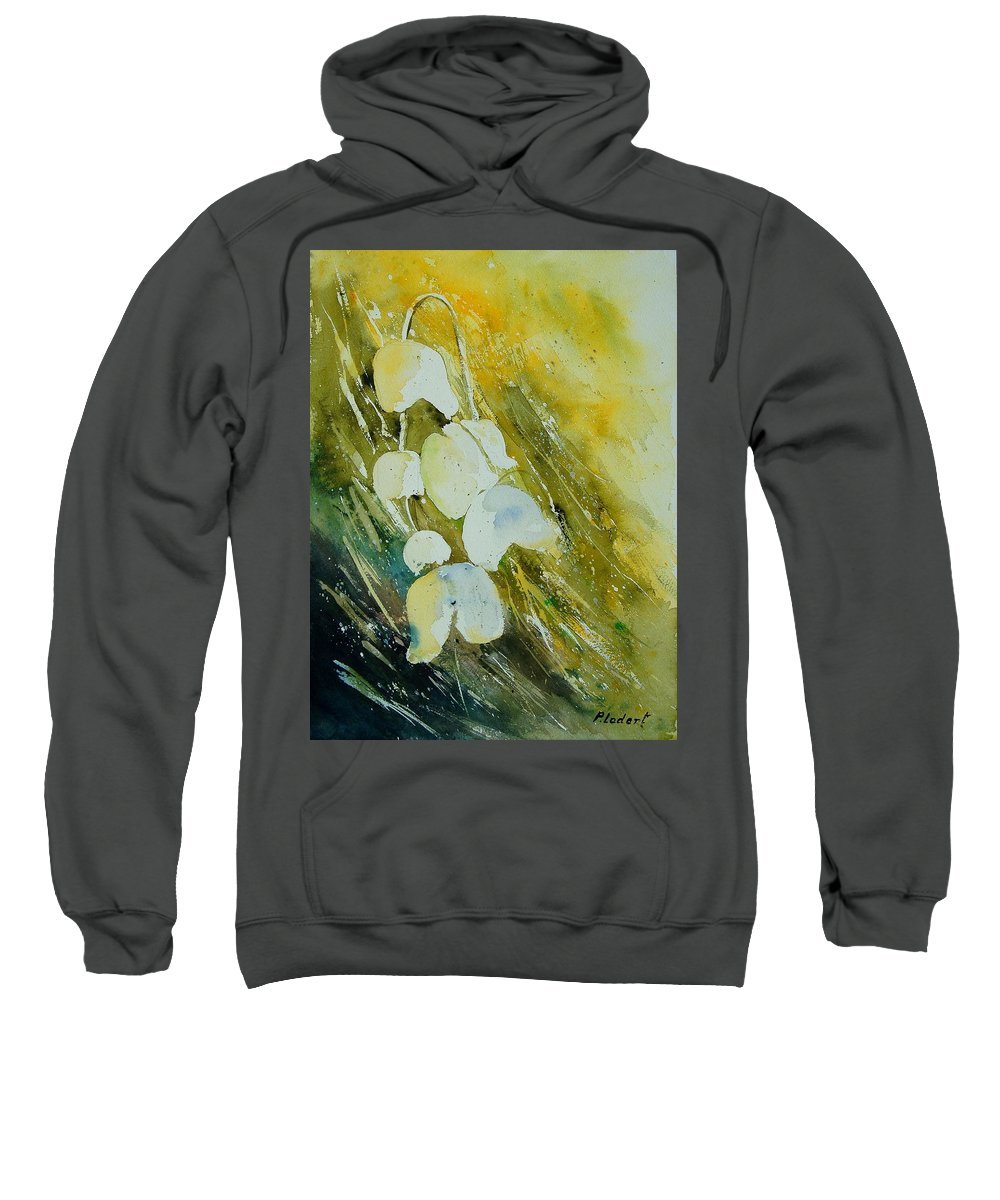 Flowers Sweatshirt featuring the painting Watercolor 220508 by Pol Ledent