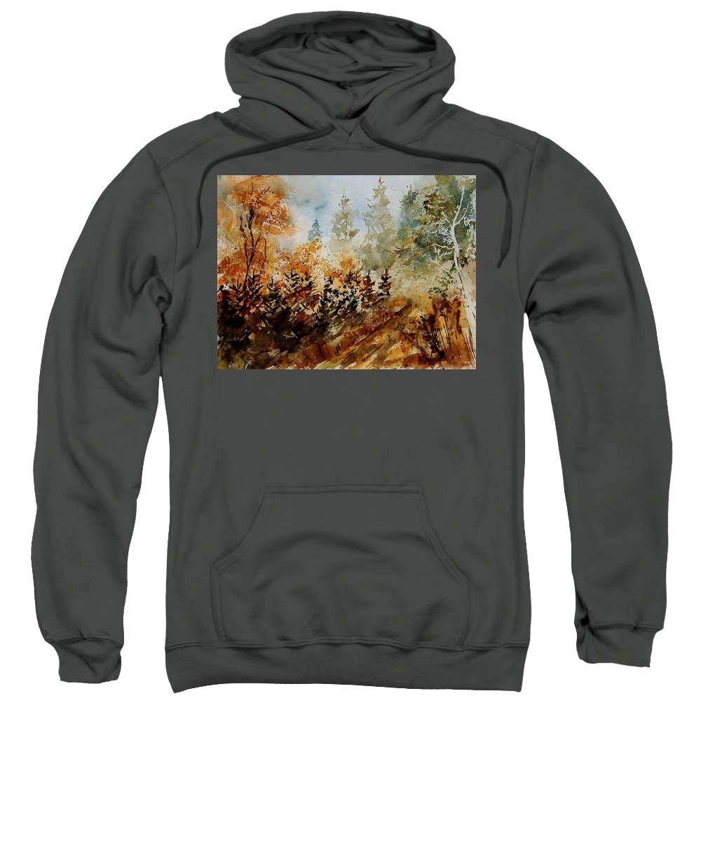 Tree Sweatshirt featuring the painting Watercolor 250607 by Pol Ledent