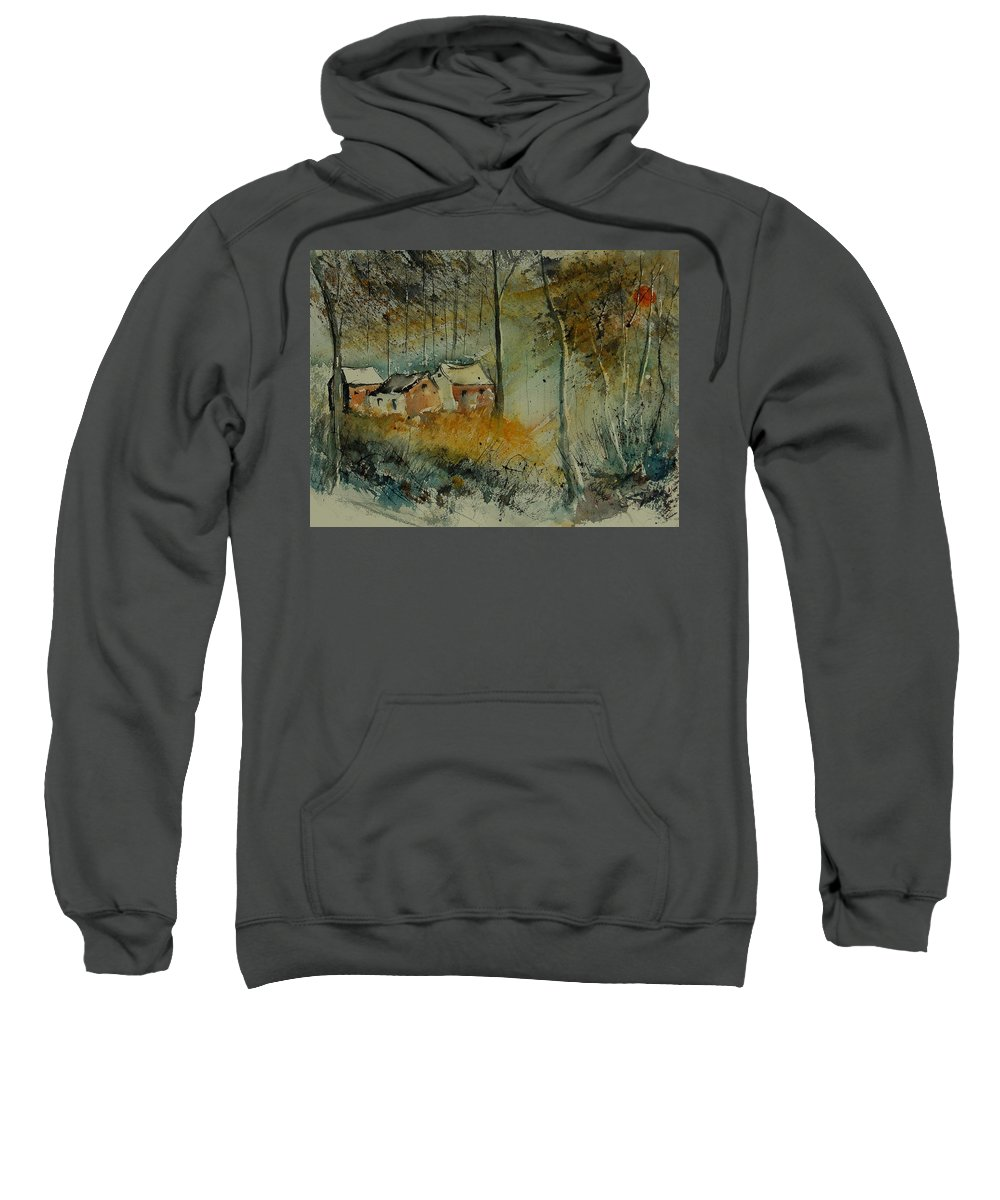 Landscape Sweatshirt featuring the painting Watercolor 900170 by Pol Ledent