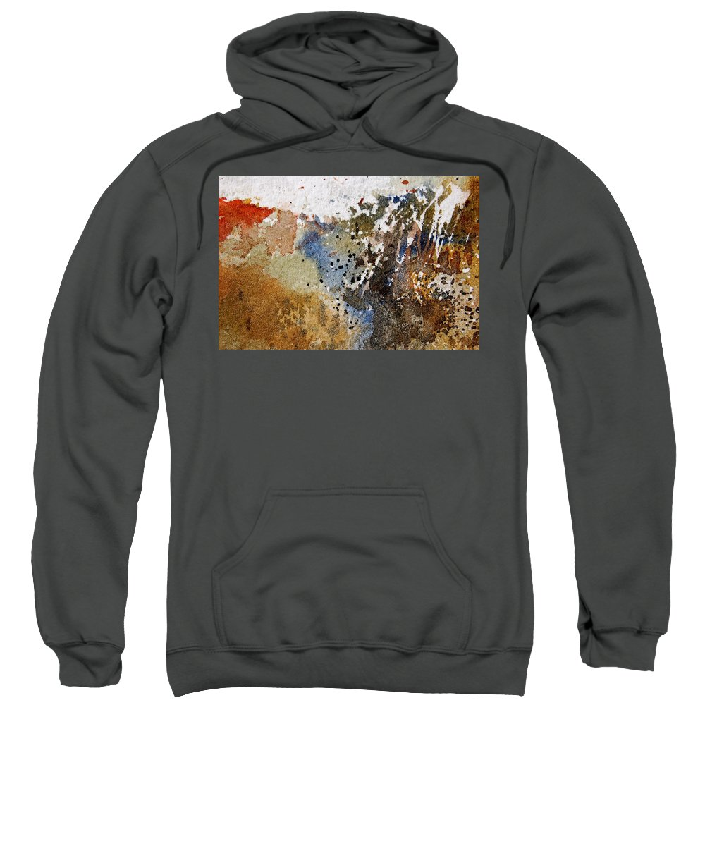 Abstract Sweatshirt featuring the painting Watercolor 9050223 by Pol Ledent