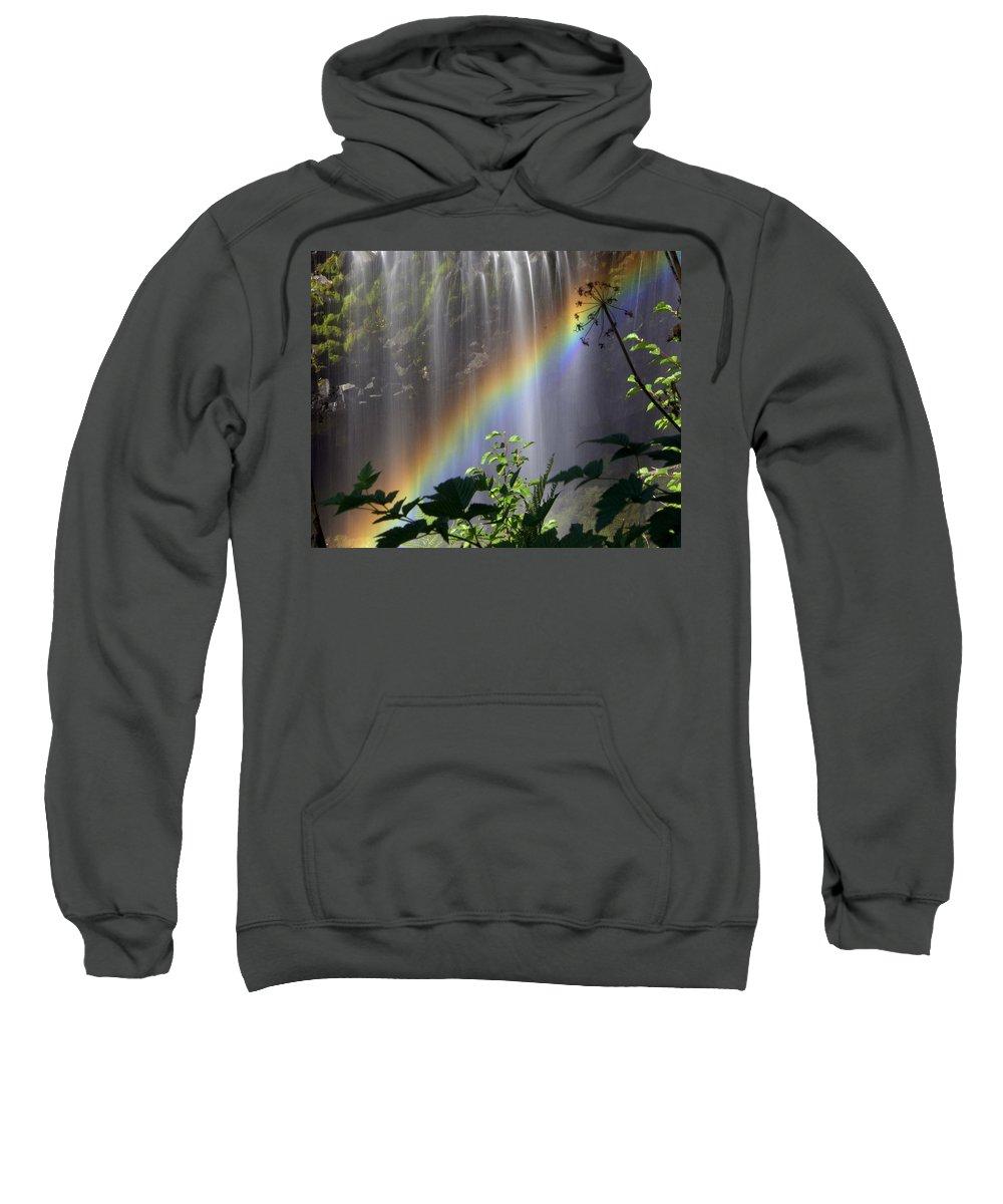 Waterfall Sweatshirt featuring the photograph Waterfall Rainbow by Marty Koch