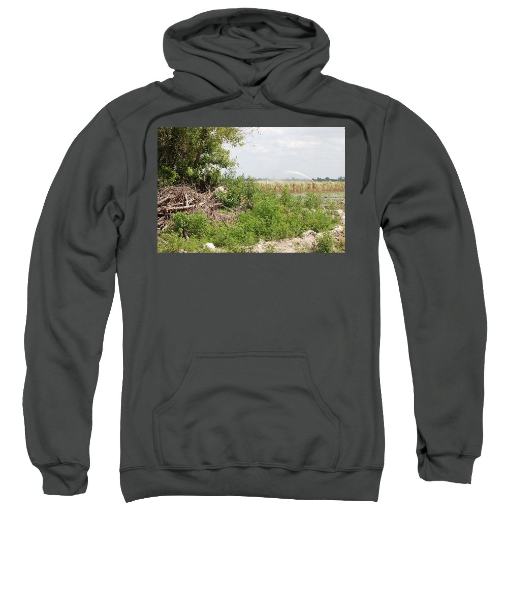 Leaves Sweatshirt featuring the photograph Watering The Weeds by Rob Hans
