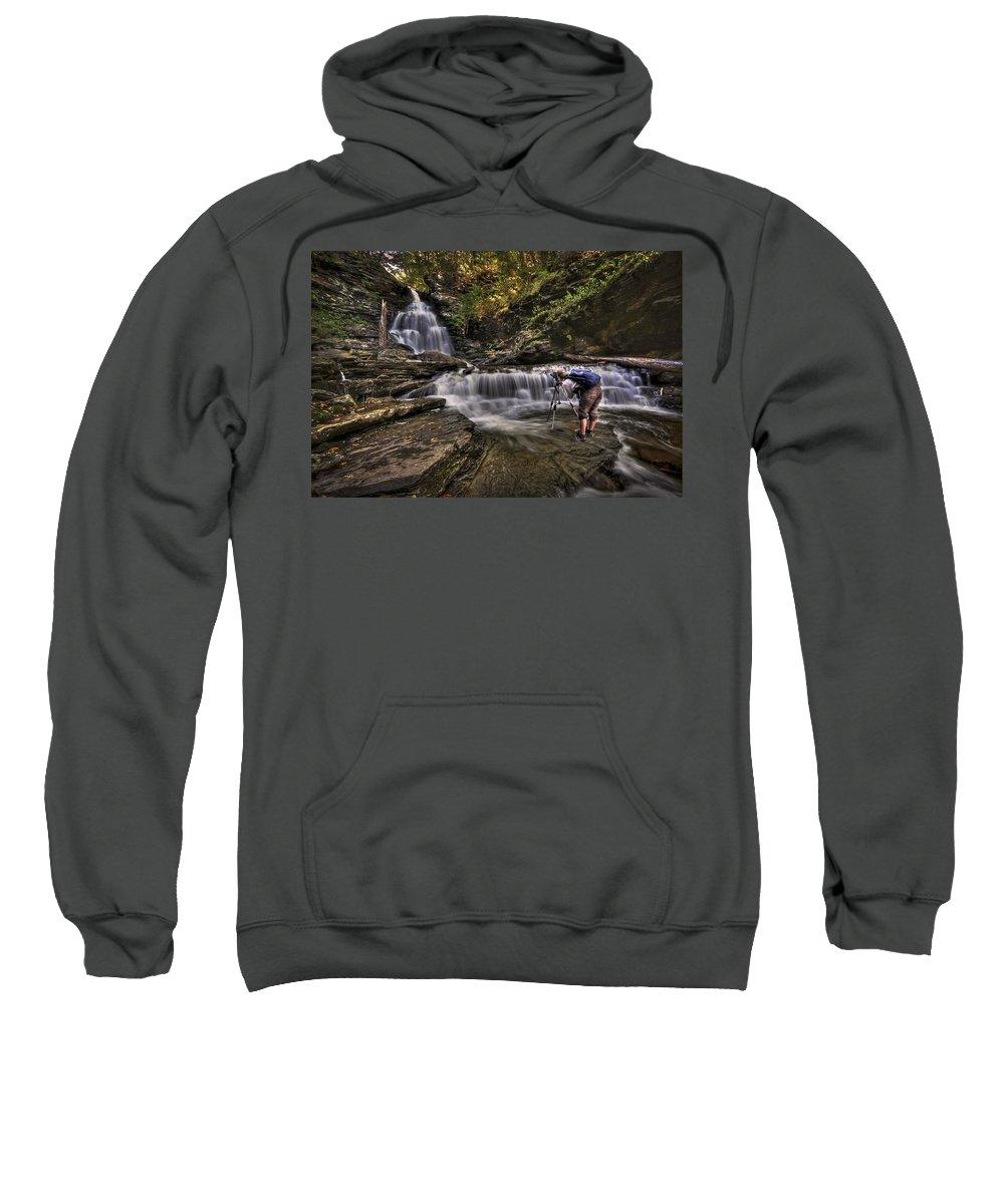Camera Sweatshirt featuring the photograph Waterproof by Evelina Kremsdorf