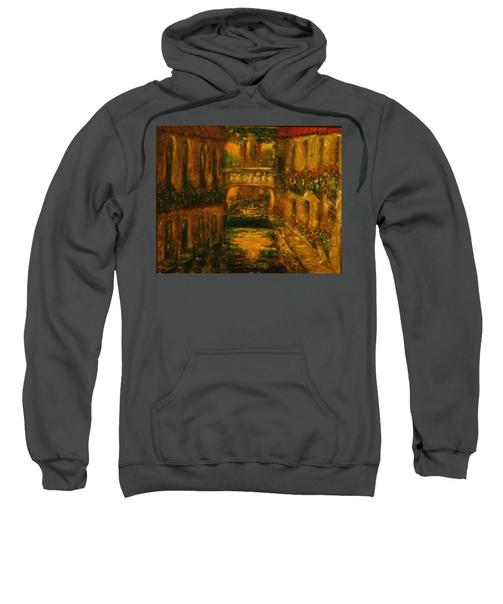 Landscape Sweatshirt featuring the painting Waters Of Europe by Stephen King
