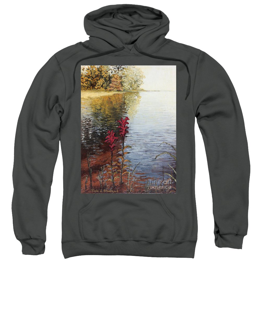 Landscape Sweatshirt featuring the painting Watts Bar Lake Rockwood Tn by Todd A Blanchard