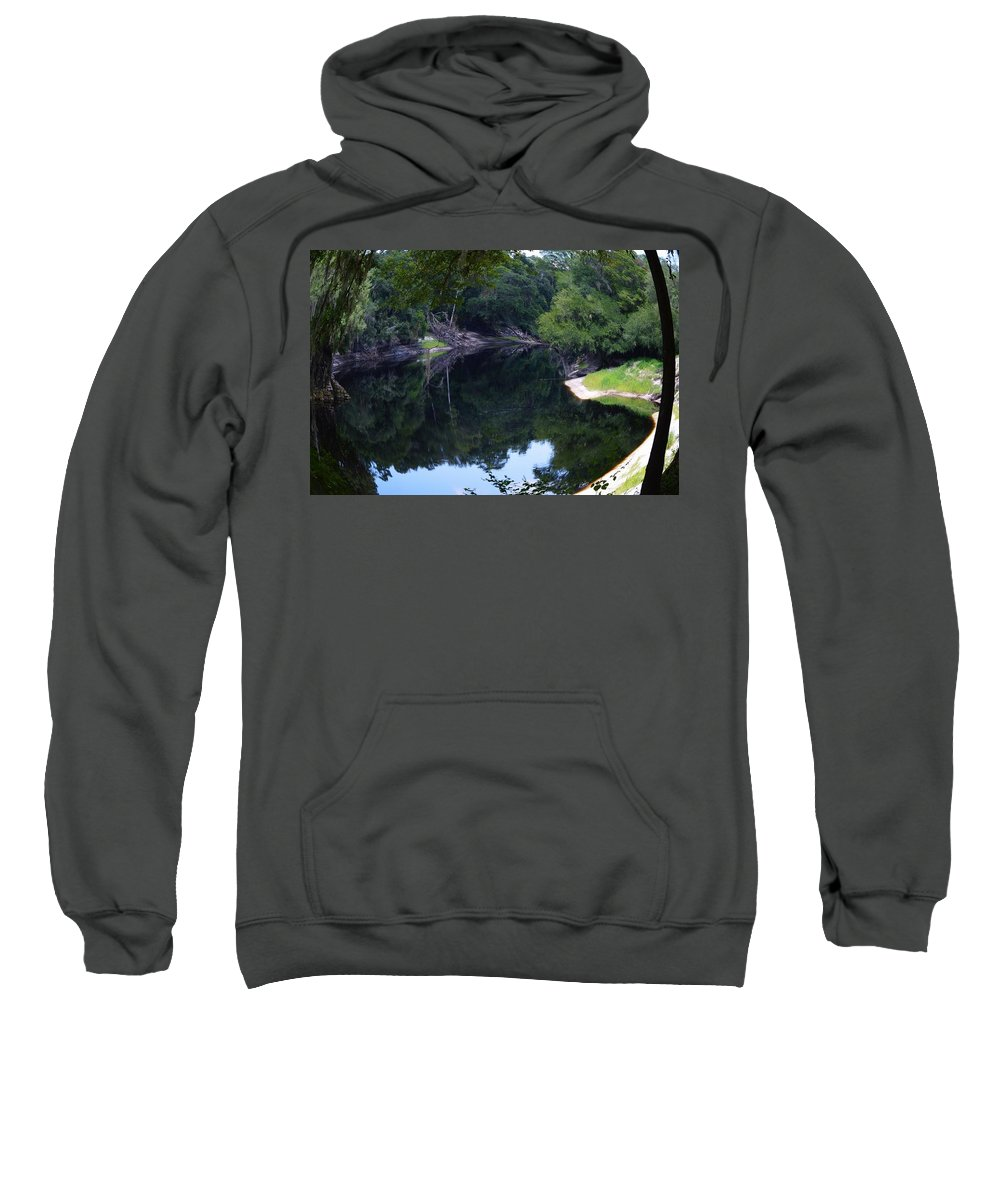 Way Down Upon The Suwannee River Fisheye Sweatshirt featuring the photograph Way Down Upon The Suwannee River Fisheye by Warren Thompson