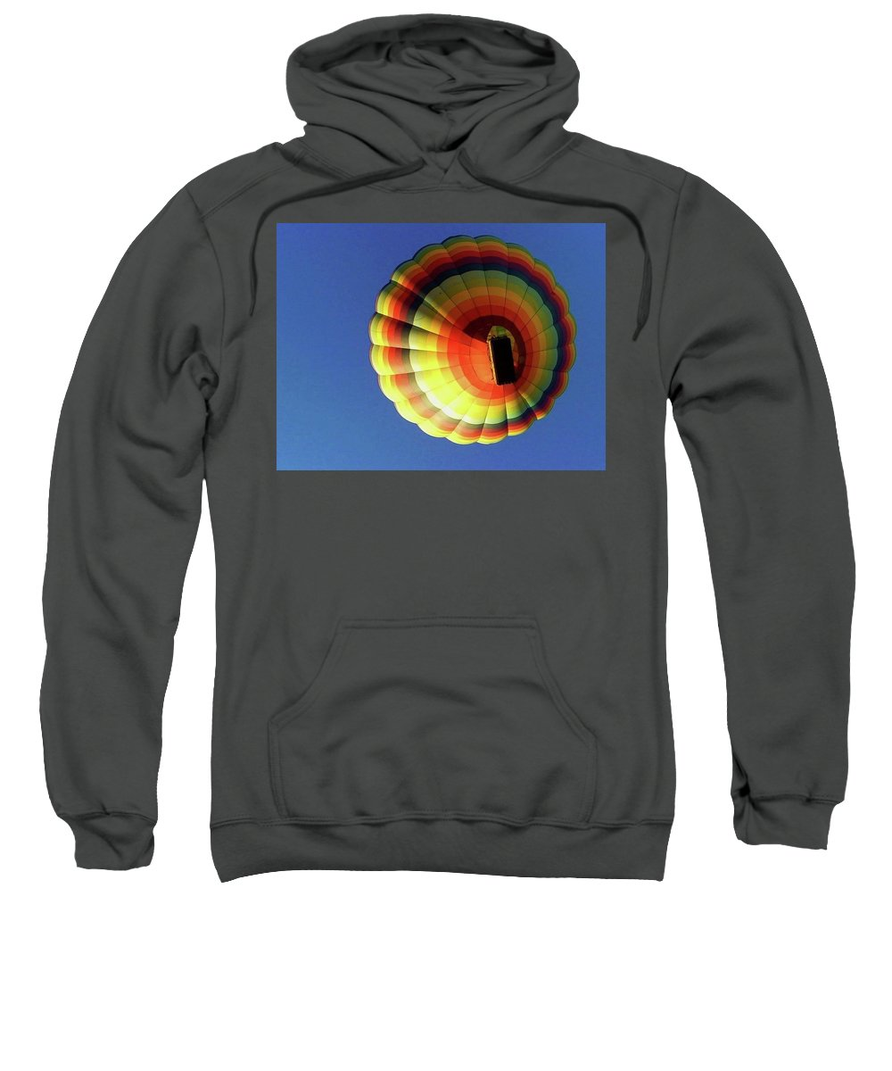 Balloon Sweatshirt featuring the photograph Way Up In The Air by Marla McFall