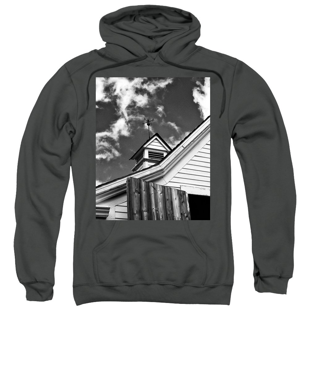 Apple Valley Sweatshirt featuring the photograph Weather Vane Bw by William Dey