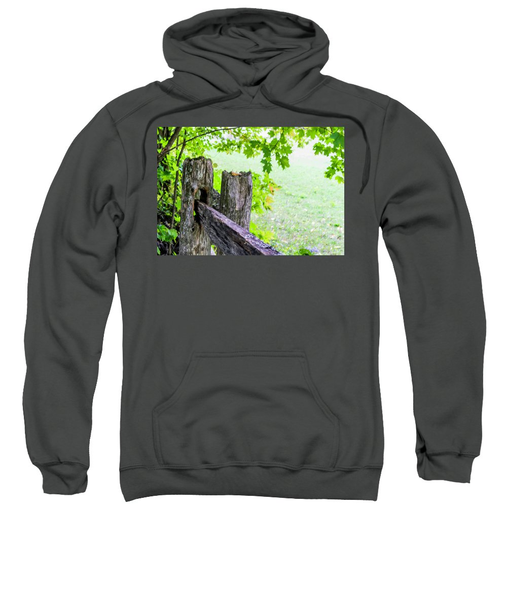 Weathered Sweatshirt featuring the photograph Weathered by Ron Christie