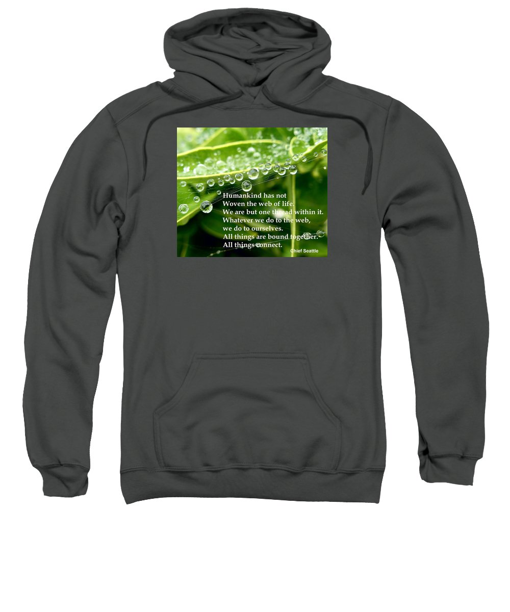 Web Sweatshirt featuring the photograph Web Of Life by Richard Copeland