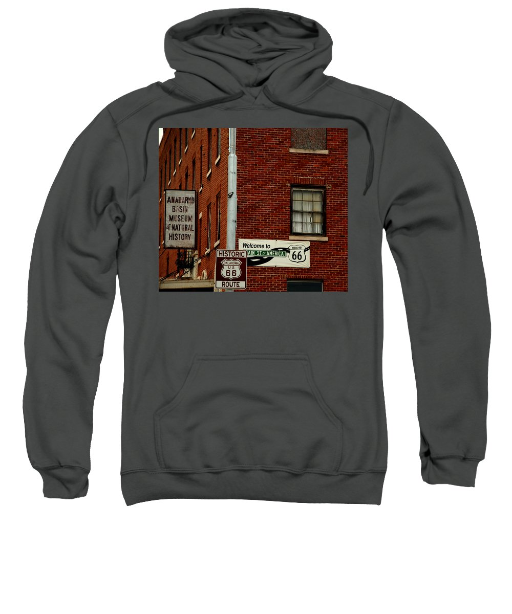 Landmark Sweatshirt featuring the photograph Welcome To The Main Street Of America by Susanne Van Hulst
