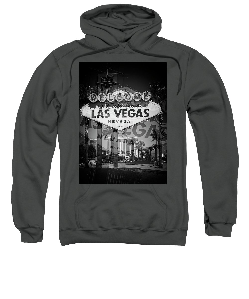 Las Sweatshirt featuring the photograph Welcome To Vegas Xiv by Ricky Barnard