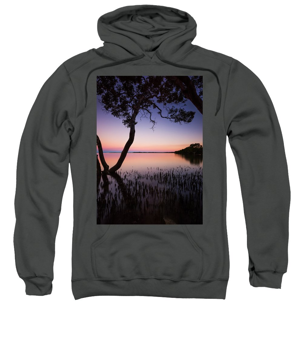 Sunset Sweatshirt featuring the photograph Wellington Point Sunset by Charles King