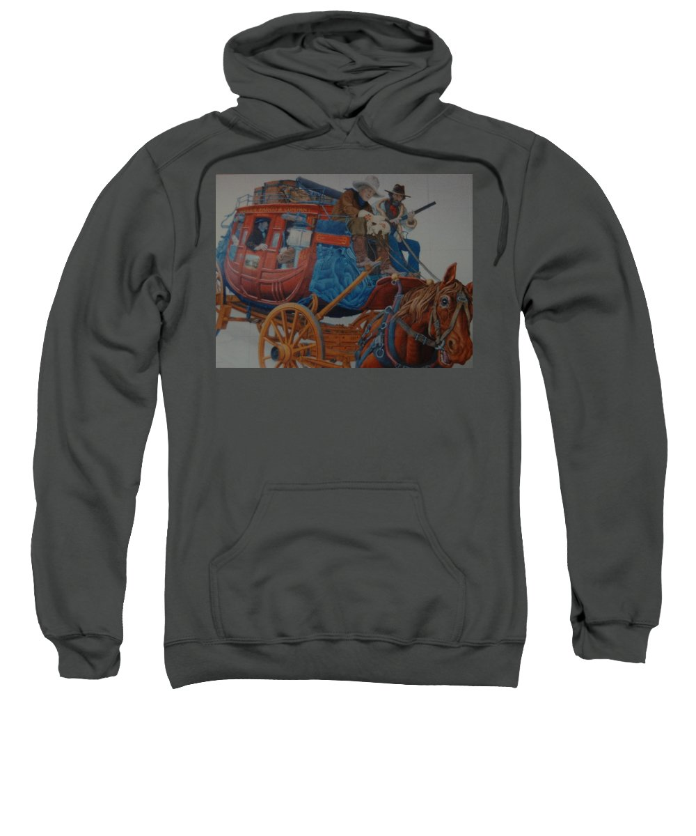 Mural Sweatshirt featuring the photograph Wells Fargo Stagecoach by Rob Hans