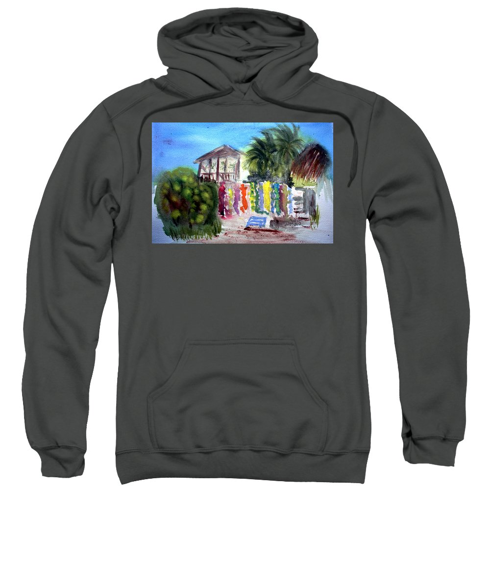 West End Sweatshirt featuring the painting West End Market by Donna Walsh
